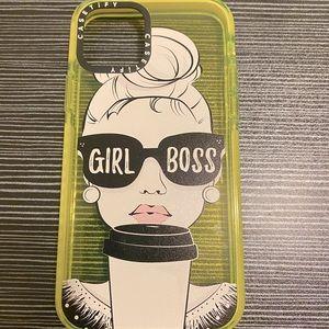 "🔥RARE Casetify Glow ""girl boss"" Iphone 12 case"